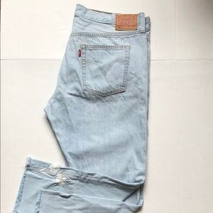 Levi's 501 Tapered Raw Hem Embroidery 33x26